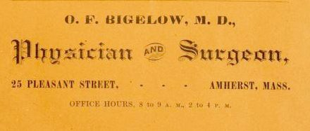 Amherst, Ad, Amherst City Directory 1890