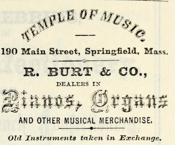 Ad, Springfield City Directory 1870