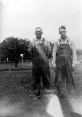 Charles (left) and Bernard Small in 1936