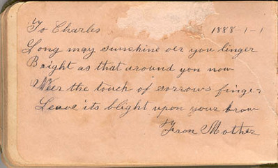 Charles William Small autograph book