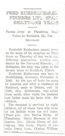 Frederick William Kubberness