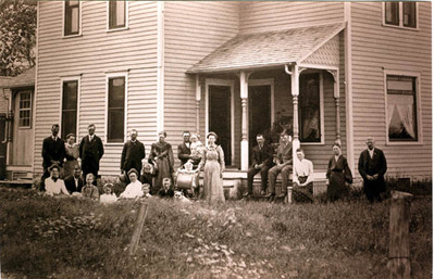 group at the home of Charles and Ida (Peterson) Sm