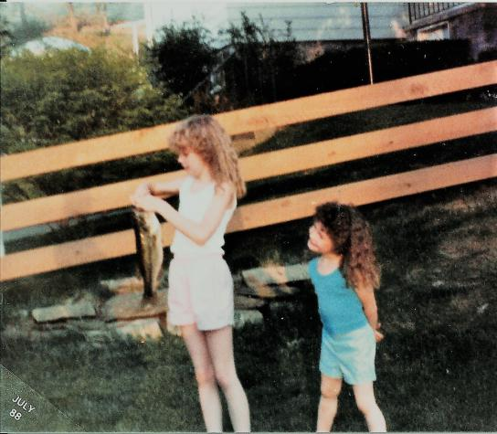 Jen and Ang July 1988