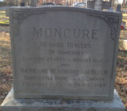 Richard Travers Moncure - Tombstone - Our Family Tree
