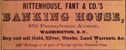 Ad, Washington City Directory 1864