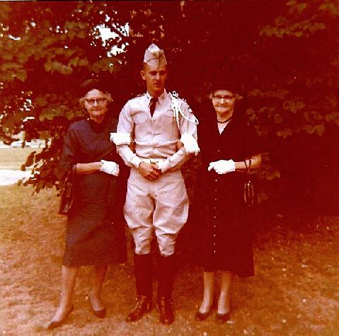 Grandma, Mike and Aunt Frances - May 1962