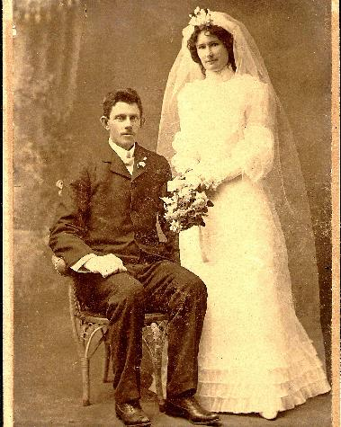 Thomas Walker & Bertha Herrer Johnson  Wedding day