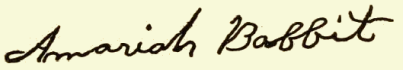"Signatures of ""Babbitt family history,1643-1900"""