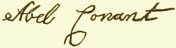 "Signatures of ""The Conant Family"""